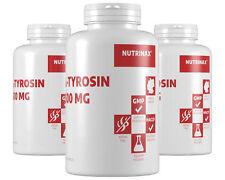 NutrinaX Tyrosin 500mg - 240 Kapseln L-Tyrosin hochdosiert mit Tyrosin Pulver