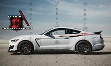 2 Decal Sticker Stripes Kit For Ford Mustang GT Body Panel Spoiler 2 Colors
