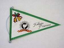 Original VESPA CLUB Leon 1960's Easter holiday scooter rally pennant cog badge