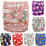 Baby Cloth Nappies Printing Color Adjustable Reusable Diapers Cover