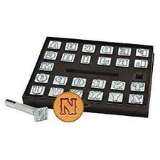 "Springfield Leather Company 1/2"" Complete Alphabet Leather Craft Stamp Set"