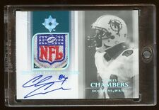 2004 ULTIMATE CHRIS CHAMBERS 1/1 *NFL* LOGO SHIELD AUTOGRAPH AUTO AMAZING CARD