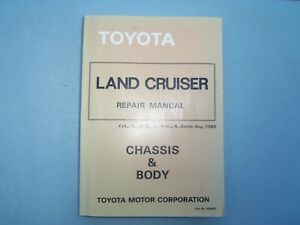 TOYOTA LAND CRUISER FACTORY WORKSHOP CHASSIS & BODY MANUAL