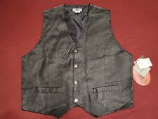 The Jean Company Fresno Leather Front Vest Size Large
