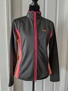 Tuffrider Tammy Neon jacket Ladies Large charcoal grey/neon peach riding coat
