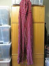 Juicy Couture Cindy Stripe Jumpsuit - Bordeaux - Size 12 - NEW with Tags BARGAIN