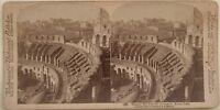 Roma Il Monte Palatin Del Colosseo Italia Foto Stereo Vintage Albumina 1897