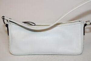 Kate Spade New York Womens White Leather Zip Top Satchel Shoulder Bag