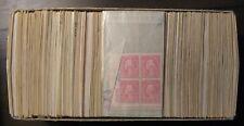 Lot of 100 different  2-5 cent vintage plate blocks of 4 Mint NH OG