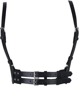 Women's Waist Belt Punk Harajuku Leather Body Chest Straps Harness Adjustable