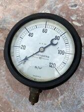 Vintage Pressure Gauge Budenberg Manchester 0-120 Lb/sqIn