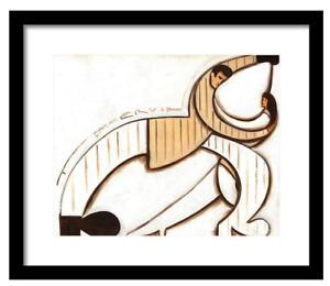 Dance Gift Dancing Art Dance Instructor Abstract Dancers Art Deco Art Framed