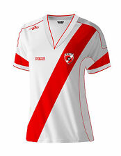 Peru Women Soccer Jersey Color White/ Red 100% Polyester