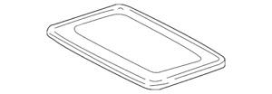 Genuine Toyota Glass Assembly 63201-20200