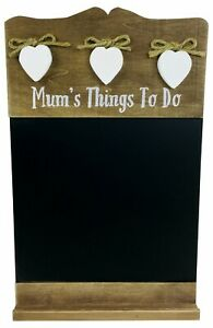 Chalkboard wooden memo message hearts country rustic farmhouse kitchen wall