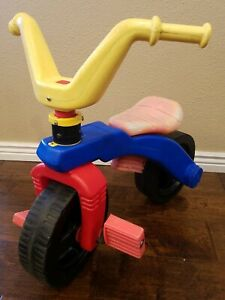 Vintage Playskool 123 Kids Bike Plastic Ride On Toy Without Training Wheels