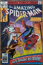 """Amazing Spider-Man #184 FN 6.0 """"White Dragon! Red Death!"""" published in 1978"""