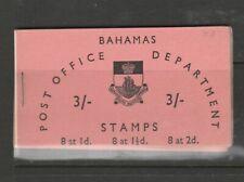 Bahamas Booklet 1961 3/- Pink, Inverted stamps, SG SB4