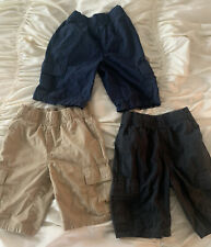 size 7 Boys LOT of 3 Childrens Place cargo shorts khaki navy black Excellent eUC