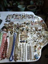 Vtg 315 Costume Jewelry HighEnd Rhinestone Signed Gold Silver Pin Earring Estate