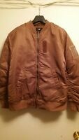 Men's H&M Bomber Jacket BRONZE Size Large NEW TAG $69.99 SUPER RARE SOLD OUT