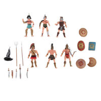 Pack of 6 Ancient Roman Gladiator Warriors Military Action Figure Models Toy