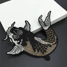 Big Fish Embroidered Iron on Patch Fabric Sticker Applique Clothes Accessories