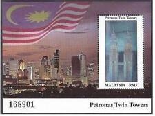 Malaysia 1999 Petronas Twin Tower stamp MS Mint Unused