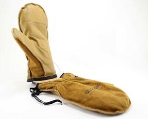 Burton Workhorse Leather Mitt Snowboard Mittens, Men's Medium, Raw Hide New