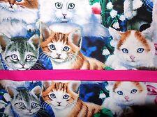 1 PILLOWCASE standard size homemade cotton fabrics CAT PATTERN NEW
