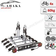 Towbar Mounted 4 Bike Rack Cycle Carrier Tilting Theft Protection 7 pin plug