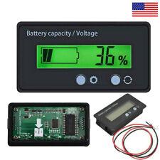 12V 24V/ 48V Battery Status Charge LCD Digital Indicator Monitor Meter Gauge US
