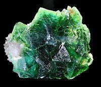 HUGE PRISTINE Emerald Green FLUORITE Specimen w/ QUARTZ (Tucson Mineral Show!)
