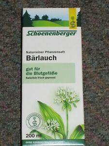 Schoenenberger Flüssiger BÄRLAUCH  Flüssigwürze 200 ml  Neu  ( 100 ml 4,38 )