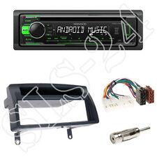 Kenwood kdc-110ug radio + toyota corolla (e12u/e12j) 1-din diafragma + adaptador ISO