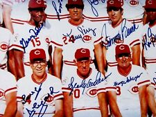 1976 (Reds) Big Red Machine 24x36 Show Signed Photo/Poster  Rose,etc .-CEI Auth.