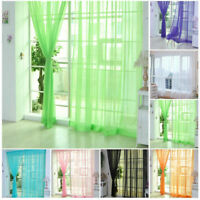 Window Scarf Balcony Voile 2mx1m House Hot Door Panel Tulle Curtain Drape Sheer