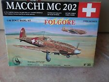 MACCHI MC202 FOLGORE 1/48 SCALE TAURO MODEL + RESIN COCKPIT+N.2 PHOTOETCHED