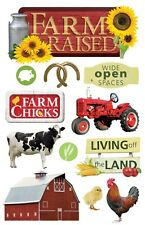 PAPER HOUSE FARM RAISED COUNTRY WESTERN DIMENSIONAL 3D SCRAPBOOK STICKERS