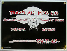 Travel Air MFG CO. Aircraft Airplane Flight Flying Vintage Aviation Metal Sign