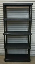 Keter and HDX 5 - Tier Freestanding Plastic Shelving Unit Garage Storage