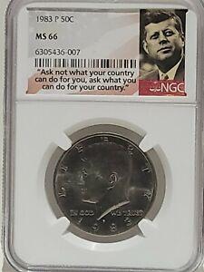 1983-P 50c Kennedy Half Dollar NGC MS66