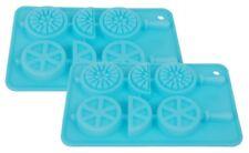 2 Silikon Eiswürfelform Eiswürfel am Stiel Silikonform Eiswürfelbereiter Eisform