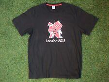 ADIDAS NERO UFFICIALE 2012 UK LONDON OLYMPICS Graphic Tee Shirt ~ grande in in buonissima condizione
