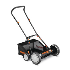 Manual Push Reel Lawn Mower Bagger Grass Cutter Walk Behind Lightweight Yard