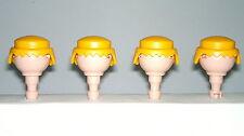 Playmobil Western Oeste Pelos Amarillos, Accesorios soldados, Pelo Rubio, Custom