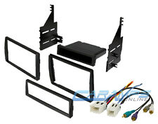 SINGLE OR DOUBLE DIN CAR STEREO CD PLAYER DASH INSTALLATION KIT & WIRING HARNESS