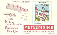 BUVARD METASPIRINE = ANOMALIES = JEANNE D'ARC sur son cheval + ERREURS