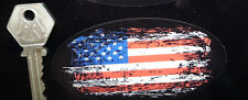 STARS & STRIPES USA FLAG Distressed Graffiti Style Oval 100mm Car Bike Sticker