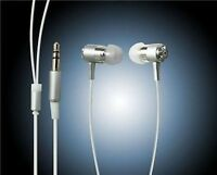 EARPHONES EARBUDS CRYSTAL iPOD MP3 MP4 IN SILVER *NEW*